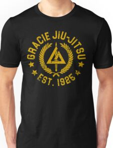 Gracie Brazilian  Jiu Jitsu martial arts EST 1925 scratch Yellow Unisex T-Shirt
