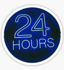 24 hrs blue Sticker