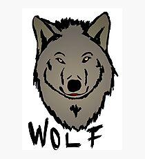 Wolf head Photographic Print