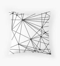 Black & White Geometric Web Throw Pillow