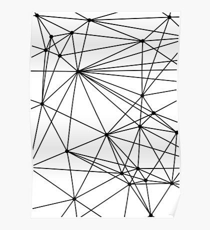 Black & White Geometric Web Poster