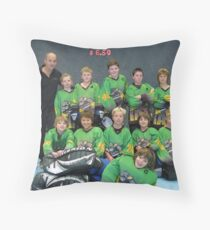 10 and Under team Winter 2007 season Throw Pillow