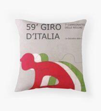 Retro Giro Poster Throw Pillow
