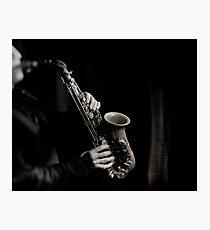 Saxophone en noir & blanc Photographic Print