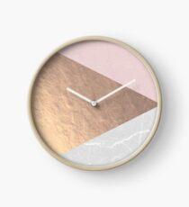 Reloj Geo tri - oro rosa y hormigón