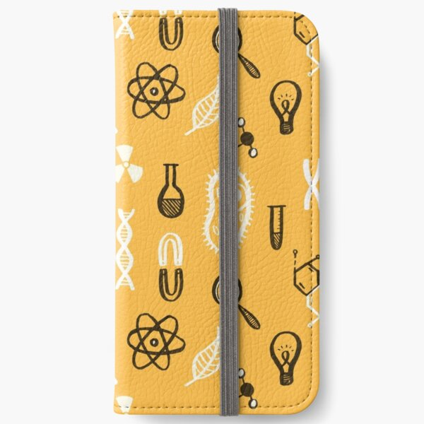 Science-Themed Pattern iPhone Wallet