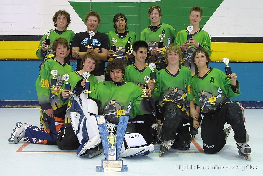 14 and Under team win Grand Final 2006 by Lilydale Rats Inline Hockey Club