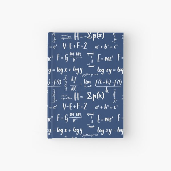 Mathematical Equations Pattern Hardcover Journal