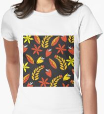 Autumn Flowers  Women's Fitted T-Shirt