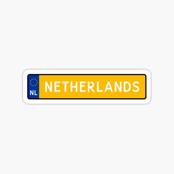 Netherlands Kenteken Sticker