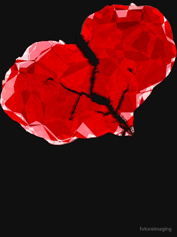 Broken Red Heart Polygon Abstract by futureimaging
