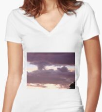 ominous  Women's Fitted V-Neck T-Shirt