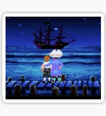 Guybrush Threepwood ship Sticker