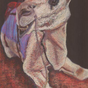 Camel in pastel by Carolyn