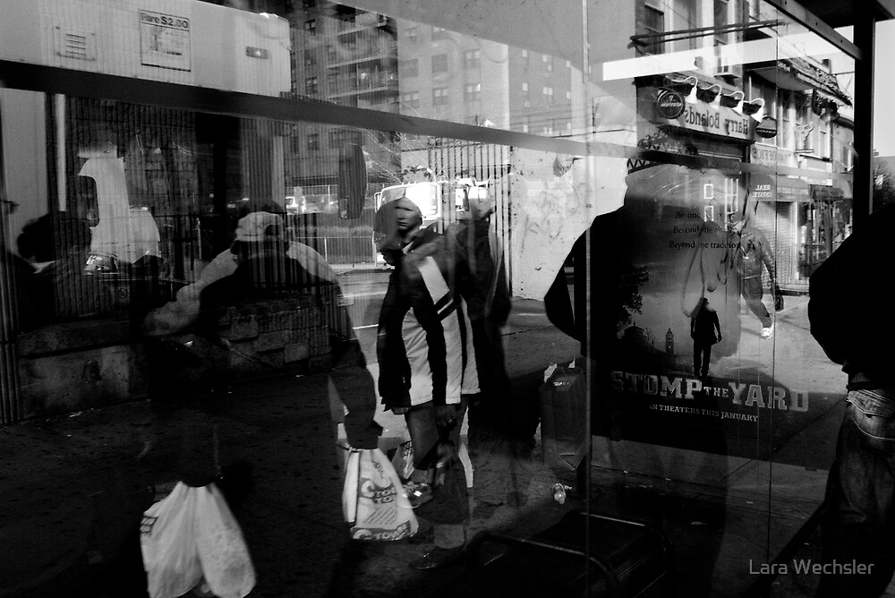 Bus Stop Reflections by Lara Wechsler