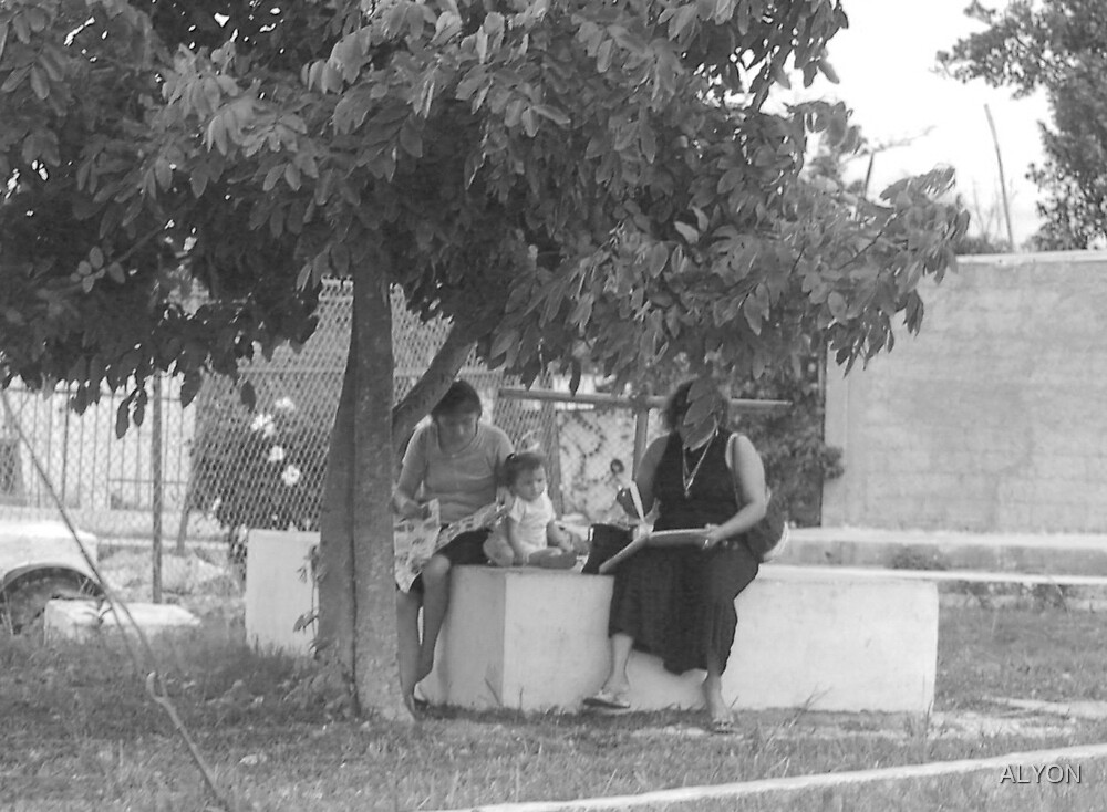 LUNCH UNDER A  SHADE TREE by ALYON