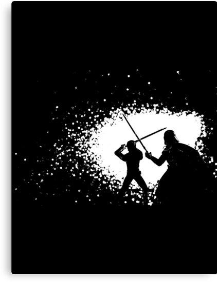 Luke vs Vader Duel by LtheD