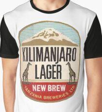 KILIMANJARO LAGER VINTAGE LOGO Graphic T-Shirt