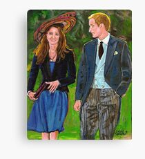 WILLS AND KATE Canvas Print
