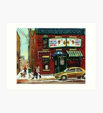 FAIRMOUNT BAGEL Art Print