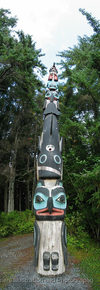 Totem Pole Sitka, Alaska by spanners79