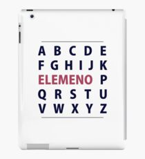 English Alphapbet ELEMENO Song iPad Case/Skin