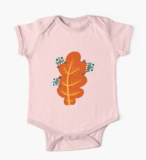 Cute Bugs Eating Autumn Leaves One Piece - Short Sleeve
