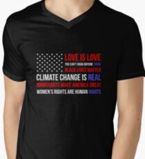 Love Is Love Black Lives Anti Trump  T-Shirt