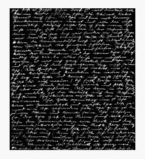 Handwriting  Photographic Print