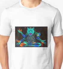 Psychedelic Kitty Cat  Unisex T-Shirt