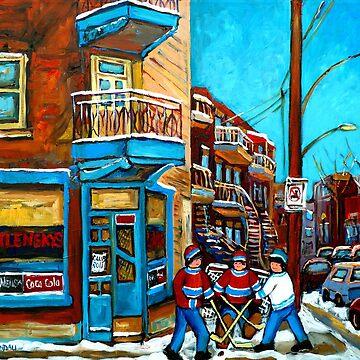 Wilensky Doorway with Hockey by CaroleSpandau