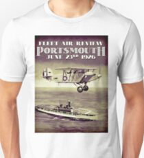 PORTSMOUTH; Vintage Fleet Air Review Print T-Shirt