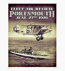 PORTSMOUTH; Vintage Fleet Air Review Print Photographic Print