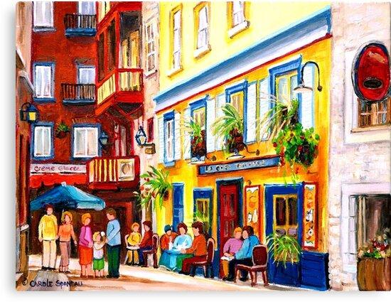 Cafe Courtyard by Carole  Spandau