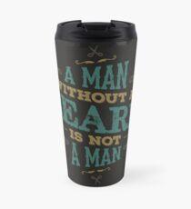 Ein Mann ohne BART IST NICHT EIN MANN Thermosbecher