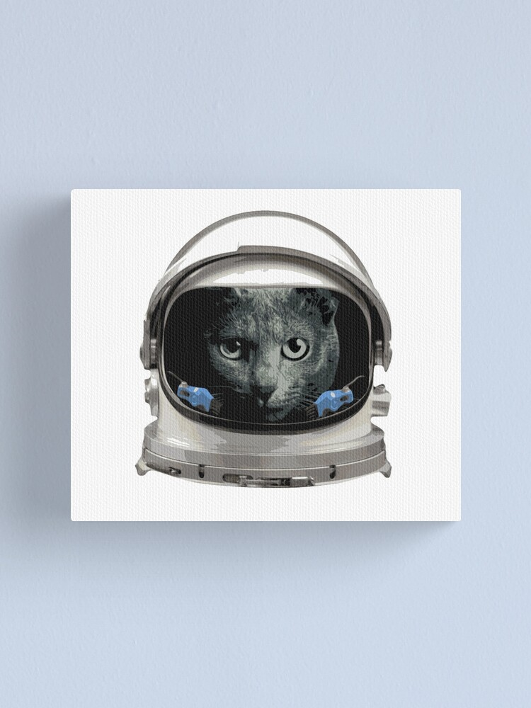 Alternate view of Space Helmet Astronaut Cat Canvas Print
