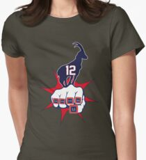 Goat Tom Brady - 5x Super Bowl Championships Womens Fitted T-Shirt
