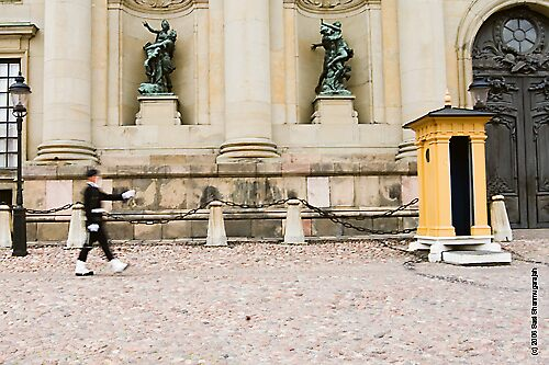 Lone marcher, Stockholm, Sweden by sasi