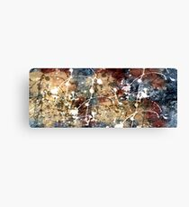 Abstract Design in Blue, Burgundy, Beige, and White Canvas Print
