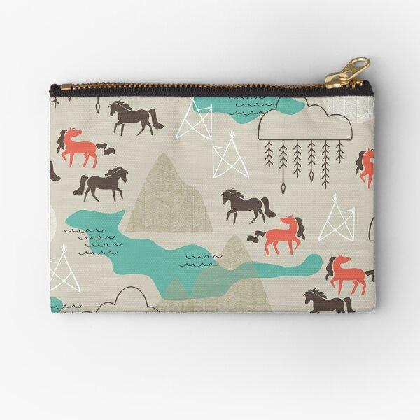 Wild Horses Zipper Pouch