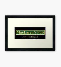 maclarens Framed Print