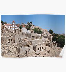 Ruined village on Tilos Poster