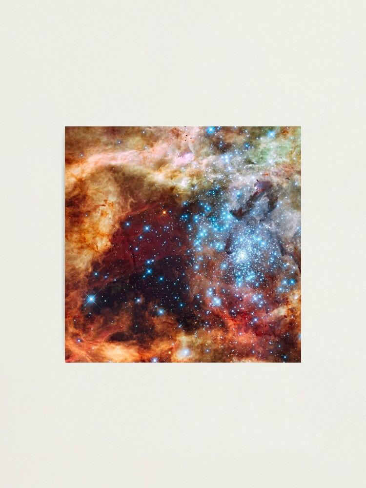 Alternate view of Doradus Nebula, Hubble Space Telescope Image Photographic Print