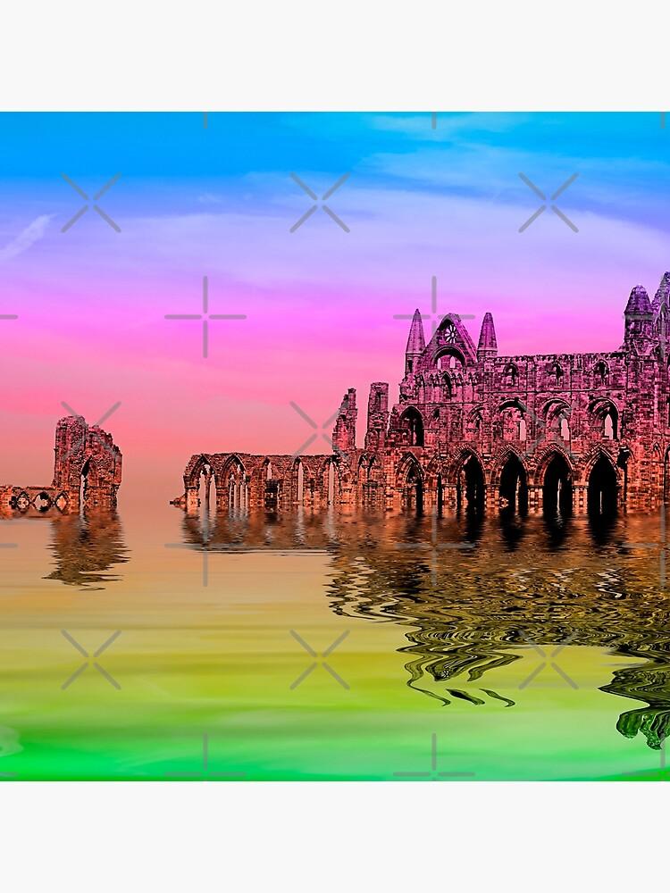 Whitby Abbey by GothCardz