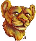Lion bust by Lacey  Ewald