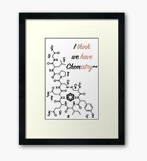 Chemical Valentine Framed Print