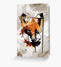 Geometric Watercolor Fox Greeting Card