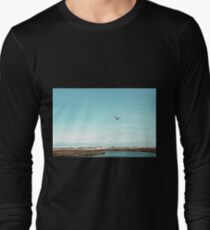Minimalist Sea and Blue Sky Long Sleeve T-Shirt