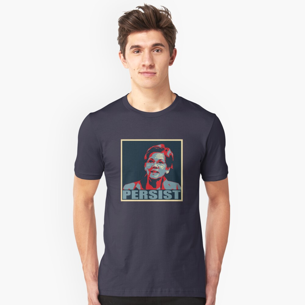 Iconic Elizabeth Warren Nevertheless, She Persisted Graphic Unisex T-Shirt Front