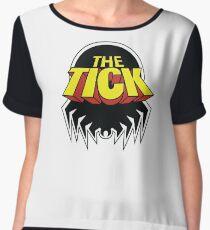 The tick Design_T-shirt Chiffon Top
